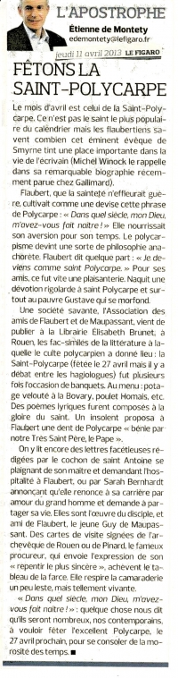 Edito Le Figaro, Polycarpe