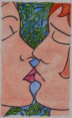 couverture, livre, édition, amour, baiser