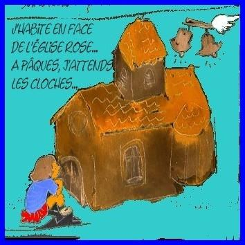 Pâques, église, enfance, cloches,