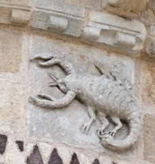 signe du zodiaque, scorpion, sculpture issoire
