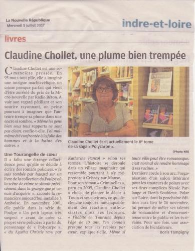 dédicace, CRIMINELLES, Claudine Chollet,France-Loisirs, Tours