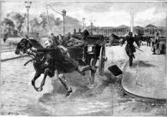 corbillard, overland, conte, cheval mort